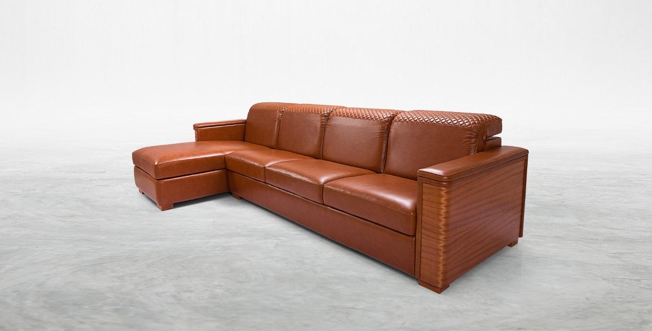 100 % in genuine Italian leather sofas