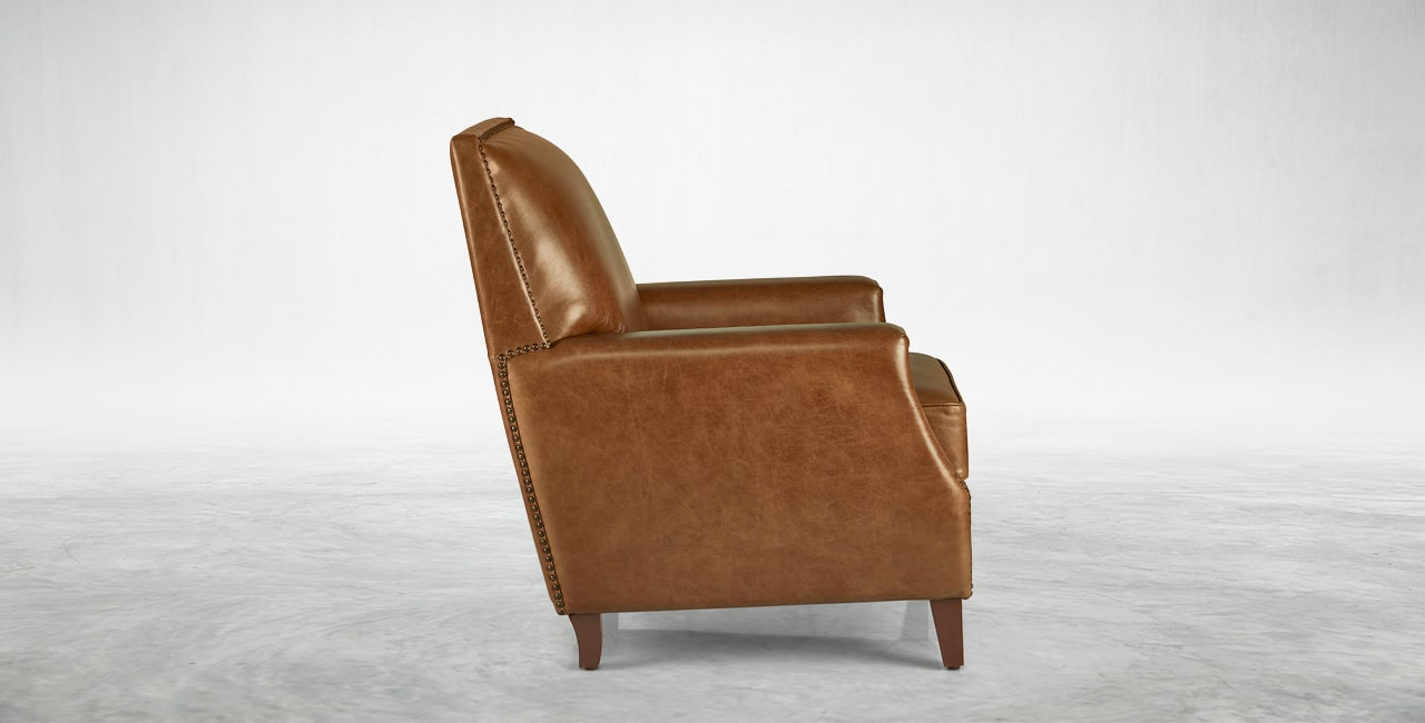 Covered in Vintage Aniline leather – Tan