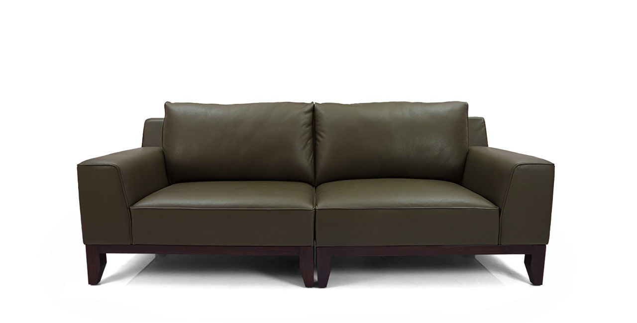 sofa is constructed using solid hardwood wood frames