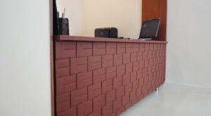 Leather tiled desk