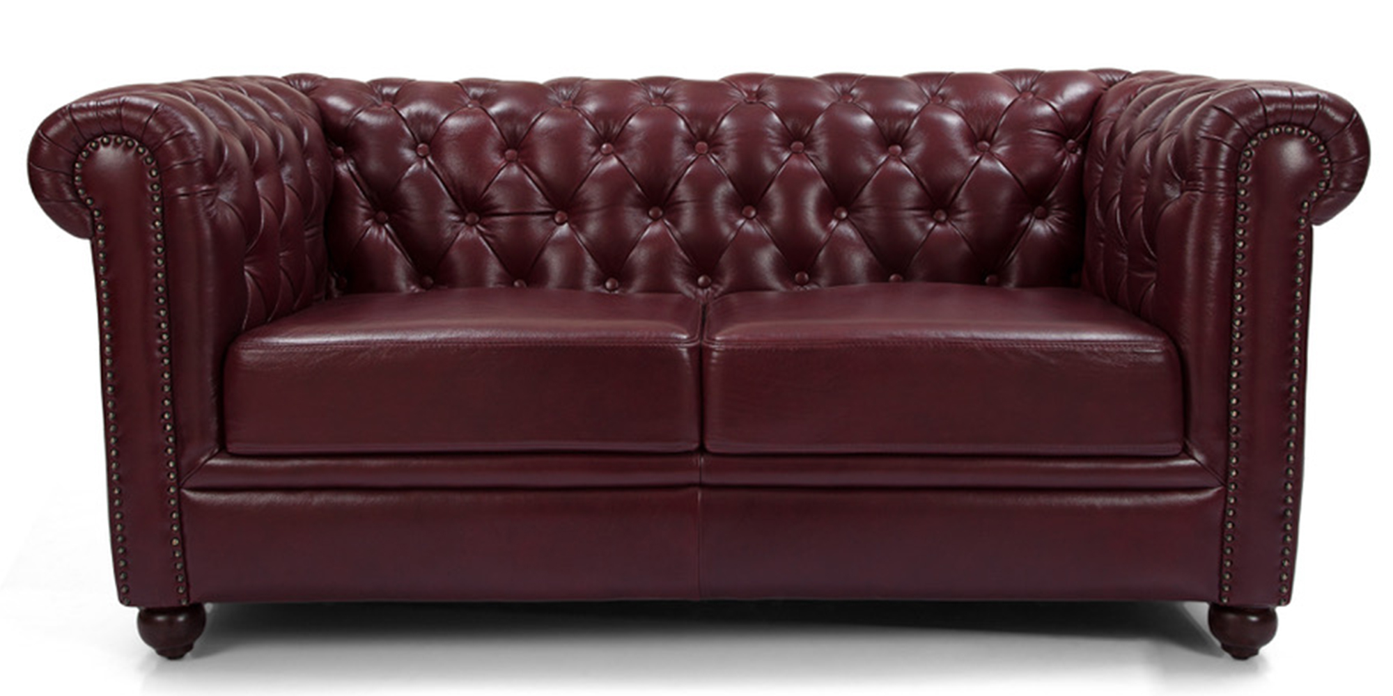 oxford red sofa