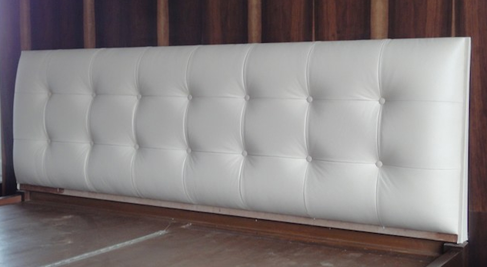 Tufted button leather head board